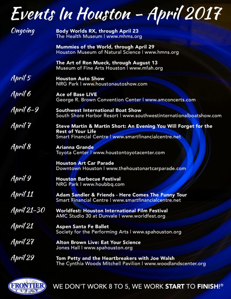 Houston April 2017 Events